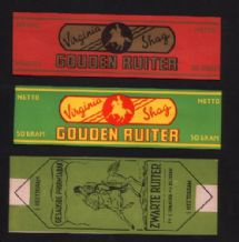 Collectible 3 Old cigarette tobacco packet labels # 438